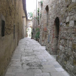 Caratteristica strada di Colle Val d'Elsa, Siena. Author and Copyright Marco Ramerini