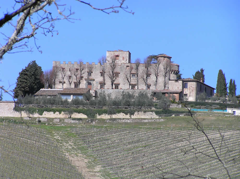 Castello di Meleto, Gaiole in Chianti, Siena. Author and Copyright Marco Ramerini