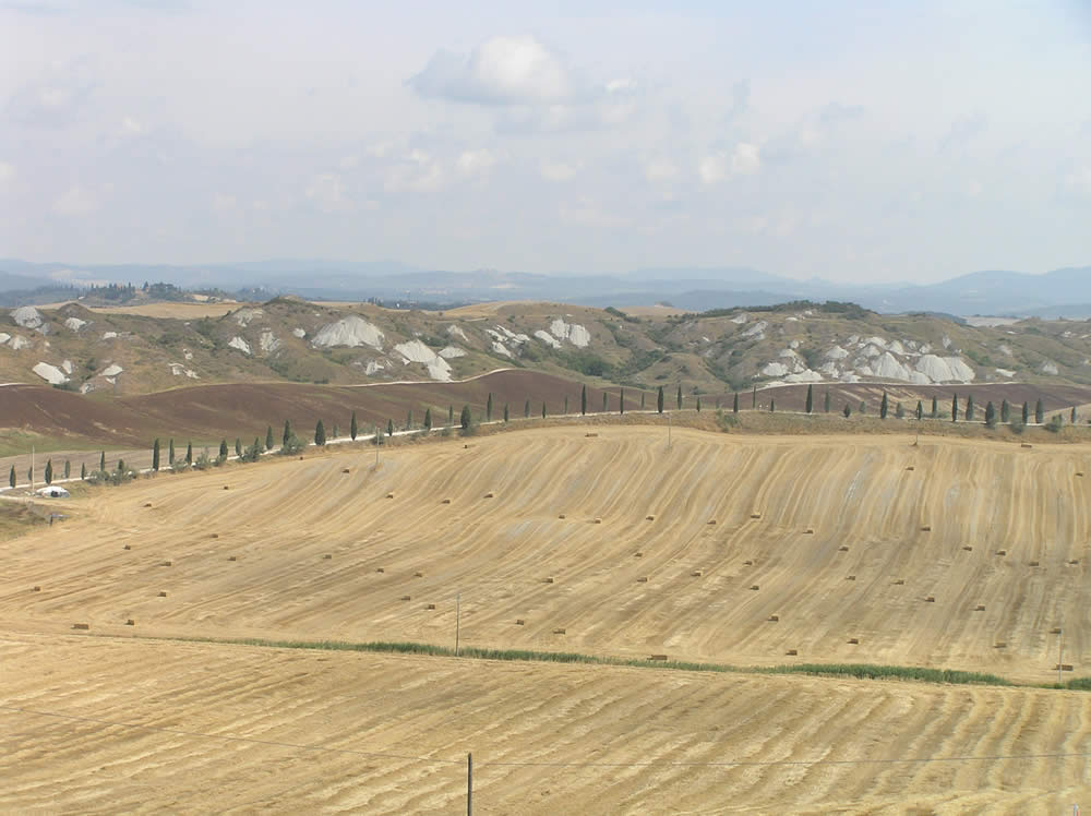 Le paysage de la Crete Senesi, Sienne. Auteur et Copyright Marco Ramerini