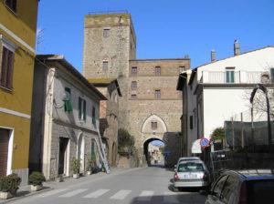 Il Cassero Senese o Porta Senese, Paganico.. Author and Copyright Marco Ramerini