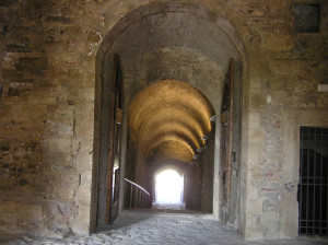 Ingresso al Cassero Mediceo, Fortezza di Poggio Imperiale, Poggibonsi, Siena. Author and Copyright Marco Ramerini