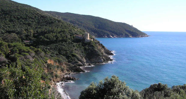 The Torre delle Cannelle and the Punta di Torre Ciana, Monte Argentario, Grosseto. Author and Copyright Marco Ramerini
