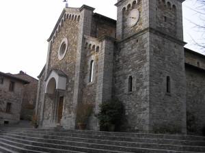 L'église paroissiale de San Salvatore, Castellina in Chianti, Sienne. Auteur et Copyright Marco Ramerini