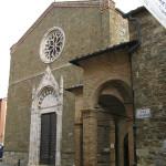 La facciata della chiesa di Sant'Agostino (XIV secolo), Montalcino, Siena. Author and Copyright Marco Ramerini