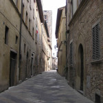 La medievale via del Castello, Colle Val d'Elsa, Siena. Author and Copyright Marco Ramerini.