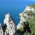 Le pareti scoscese della Riccitella, Monte Argentario, Grosseto. Author and Copyright Marco Ramerini