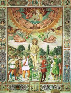 Martirio di San Sebastiano, opera di Benozzo Gozzoli, Duomo di San Gimignano. No Copyright