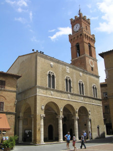 Palazzo Comunale, Pienza, Val d'Orcia, Siena. Author and Copyright Marco Ramerini