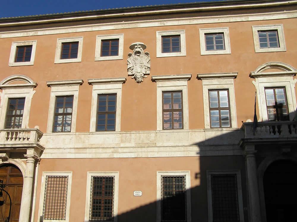 Palazzo Chigi, San Quirico d'Orcia, Siena. Author and Copyright Marco Ramerini.