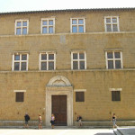 Palazzo Vescovile o Palazzo Borgia, Pienza, Val d'Orcia, Siena. Author and Copyright Marco Ramerini