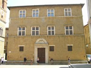 Palazzo Vescovile ou Palazzo Borgia, Pienza, Val d'Orcia, Sienne. Auteur et Copyright Marco Ramerini