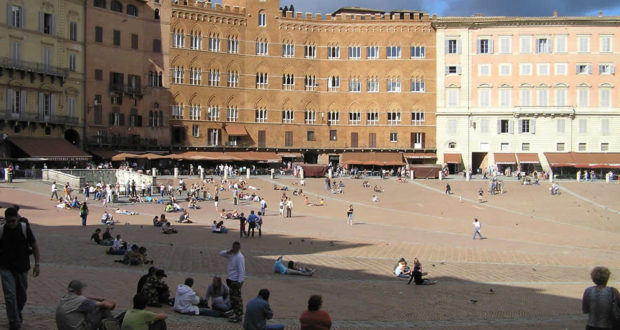 Piazza del Campo, Siena. Author and Copyright Marco Ramerini
