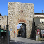 Porta sud o Porta Grossetana, Paganico. Author and Copyright Marco Ramerini