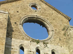Rosone, Abbazia di San Galgano, Chiusdino, Siena. Author and Copyright Marco Ramerini
