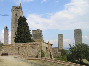 San Gimignano, Sienne. Author and Copyright Marco Ramerini,