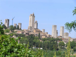 San Gimignano, Sienne. Author and Copyright Marco Ramerini,