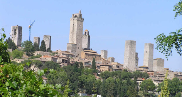 San Gimignano, Siena. Author and Copyright Marco Ramerini..
