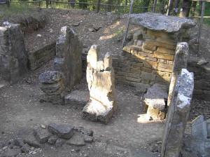 Tombe étrusque, nécropole de Poggino, Castellina in Chianti, Sienne. Auteur et Copyright Marco Ramerini