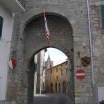 Una porta, Sarteano, Siena. Author and Copyright Marco Ramerini