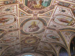 Affreschi sul soffito della chiesa di San Lino, Volterra. Author and Copyright Marco Ramerini