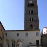 Campanile della Pieve romanica di San Jacopo, Altopascio, Lucca. Author and Copyright Marco Ramerini