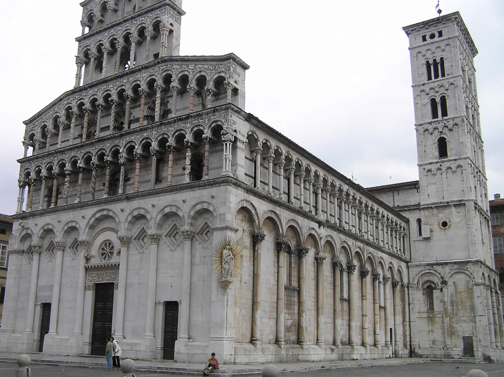 Church of San Michele in Foro, Lucca. Author and Copyright Marco Ramerini