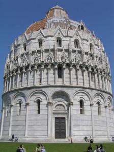 Il Battistero, Pisa. Author and Copyright Marco Ramerini