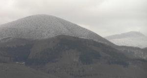 Il Monte Amiata durante una nevicata. Author and Copyright Marco Ramerini