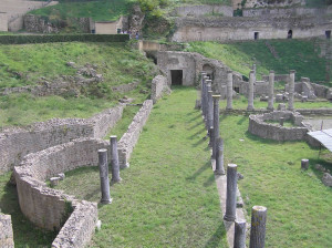 Roman theater, Volterra. Author and Copyright Marco Ramerini