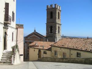 Il campanile della Chiesa di San Leonardo, Manciano, Grosseto. Author and Copyright Marco Ramerini
