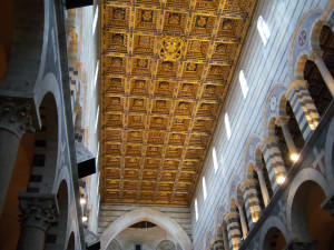 Il soffitto del Duomo, Pisa. Author and Copyright Nello e Nadia Lubrina.