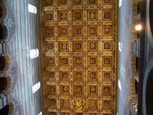 Il soffitto del Duomo, Pisa. Author and Copyright Nello e Nadia Lubrina.