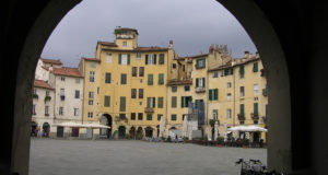 Piazza dell'Anfiteatro, Lucca. Author and Copyright Marco Ramerini