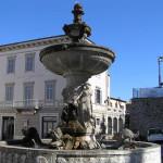 La fontana monumentale in piazza Garibaldi, Manciano, Grosseto. Author and Copyright Marco Ramerini