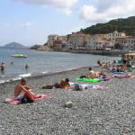 La spiaggia del porto, Marciana Marina, Isola d'Elba, Livorno. Author and Copyright Marco Ramerini