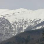 Le cime dell'Appennino ricoperte dalla neve viste da Coreglia Antelminelli, Lucca. Author and Copyright Marco Ramerini