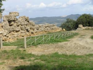 Le mura etrusche presso le Balze, Volterra, Pisa. Author and Copyright Marco Ramerini