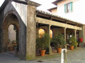 Loggia del Mercato, Barga, Lucca. Author and Copyright Marco Ramerini