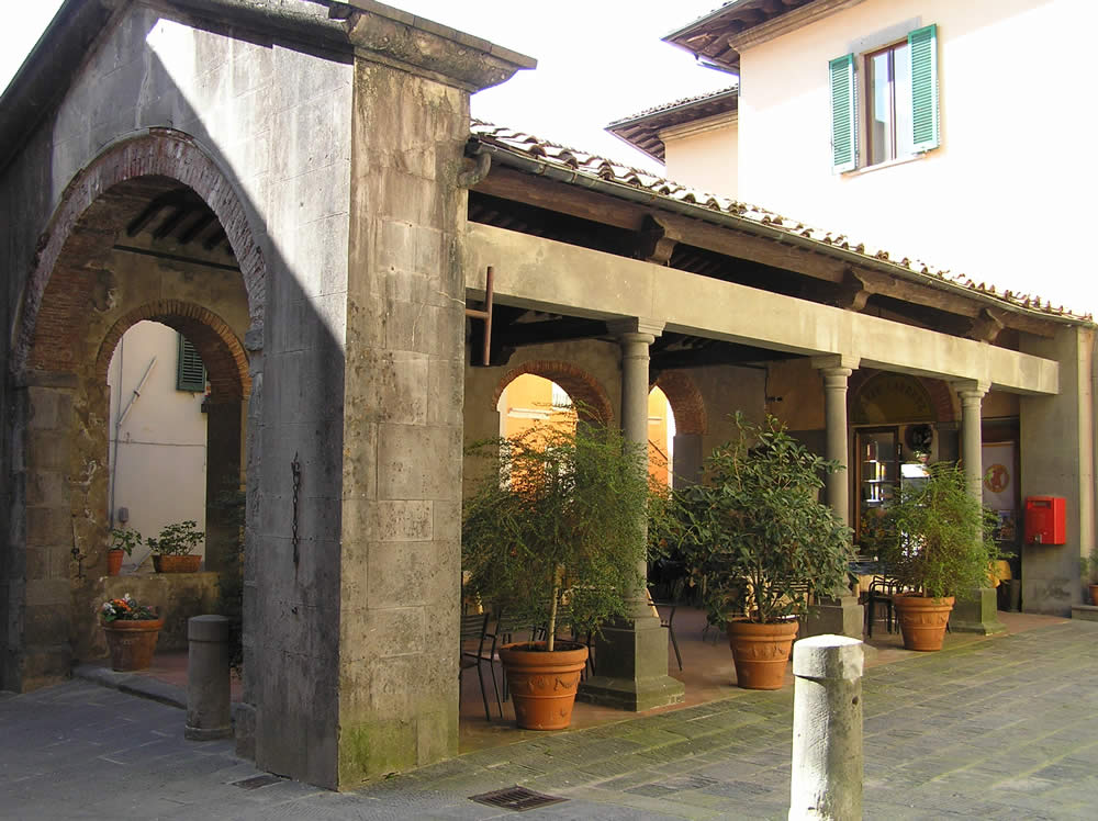 Loggia del Mercato, Barga, Lucca. Author and Copyright Marco Ramerini