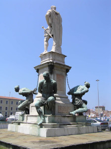 Monumento dei Quattro Mori, Livorno. Author and Copyright Marco Ramerini