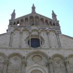 Particolare della facciata del Duomo, Massa Marittima, Grosseto. Author and Copyright Marco Ramerini
