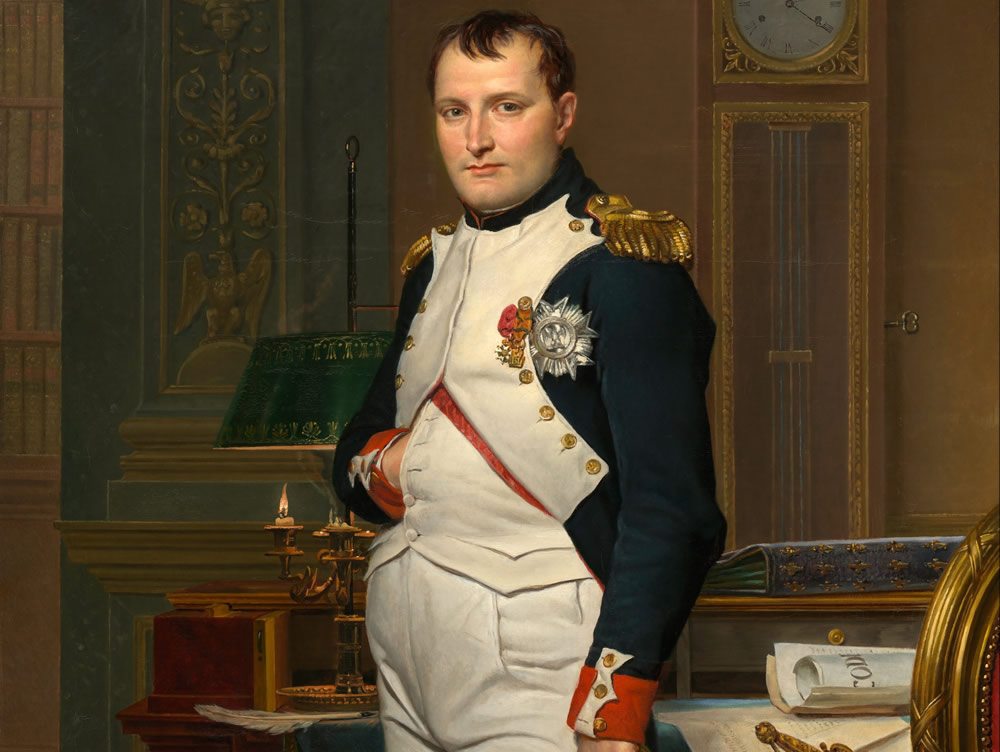 Napoleon I, peint par Jacques-Louis David, National Gallery of Art, Washington (DC). No Copyright