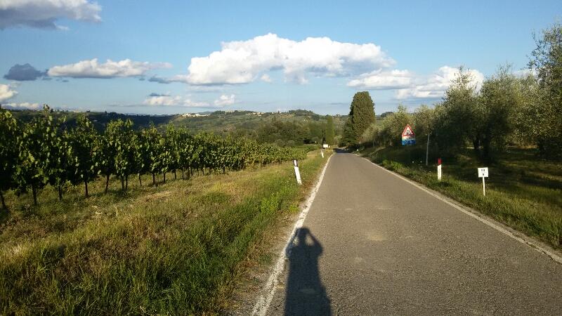 Passeggiata verso l'antica città di Semifonte. La strada dopo aver superato la cupola di San Donnino. Autore Marco Ramerini