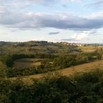 Paesaggio nei pressi delle Montigliane, sullo sfondo Barberino Val d'Elsa. Autore Marco Ramerini.,