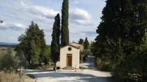La chiesetta di Riparotta. Via Francigena da Gambassi a San Gimignano