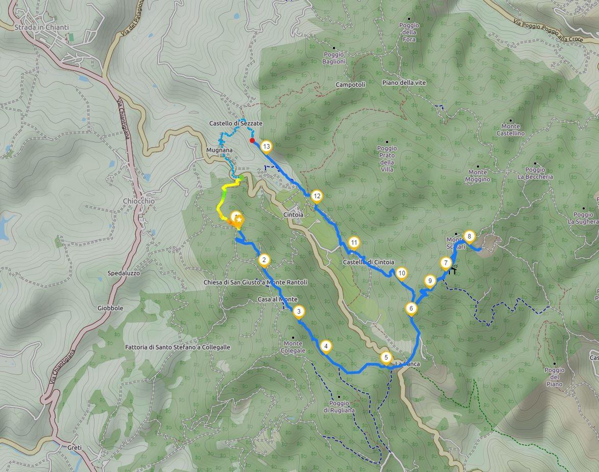 Mappa Anello di Cintoia