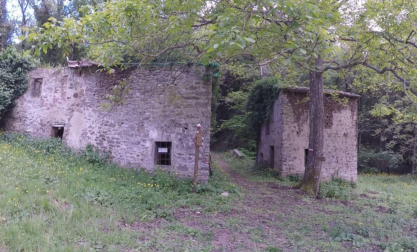 Rovine di un mulino ad acqua, il Mulino di Sezzate, e forse della casa dei gabellieri. Anello di Cintoia, Greve in Chianti. Autore e Copyright Marco Ramerini