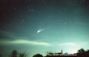 La cometa Hale Bopp. Autore e Copyright Marco Ramerini