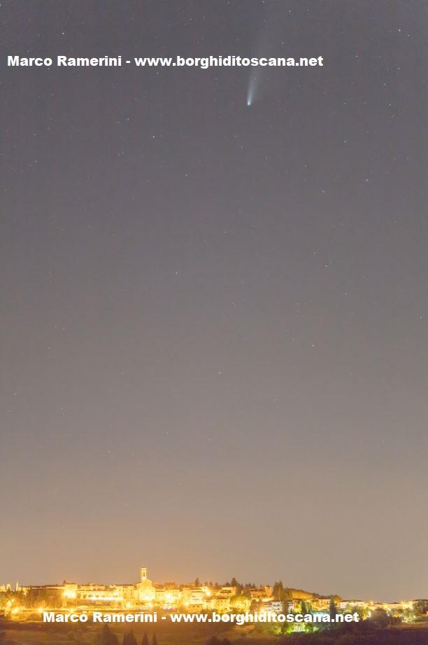 La cometa Neowise e Barberino Val d'Elsa. Autore e Copyright Marco Ramerini