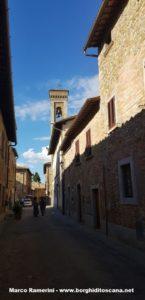 La via centrale di Barberino Val d'Elsa. Autore e Copyright Marco Ramerini